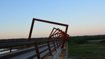High Trestle Trail Bridge is just one of the unique bridges located in Central Iowa.