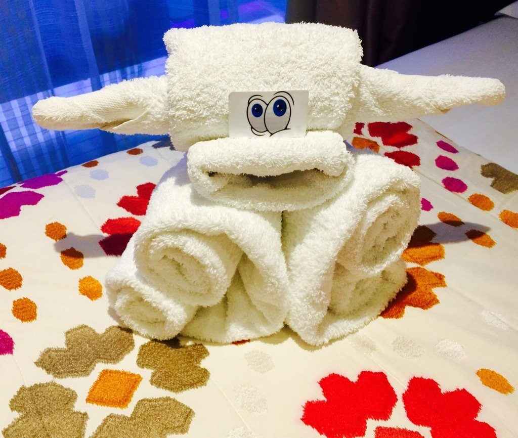 Love those cruise ship towel animals!