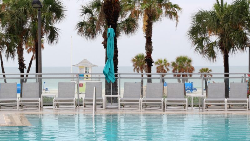 Pool view from the Wyndham Grand Clearwater Beach