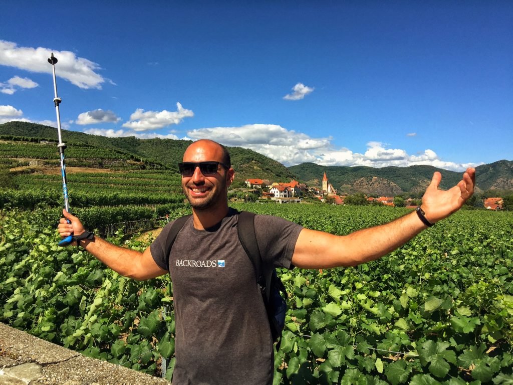 Hiking in Europe - Wachau Valley vineyards.