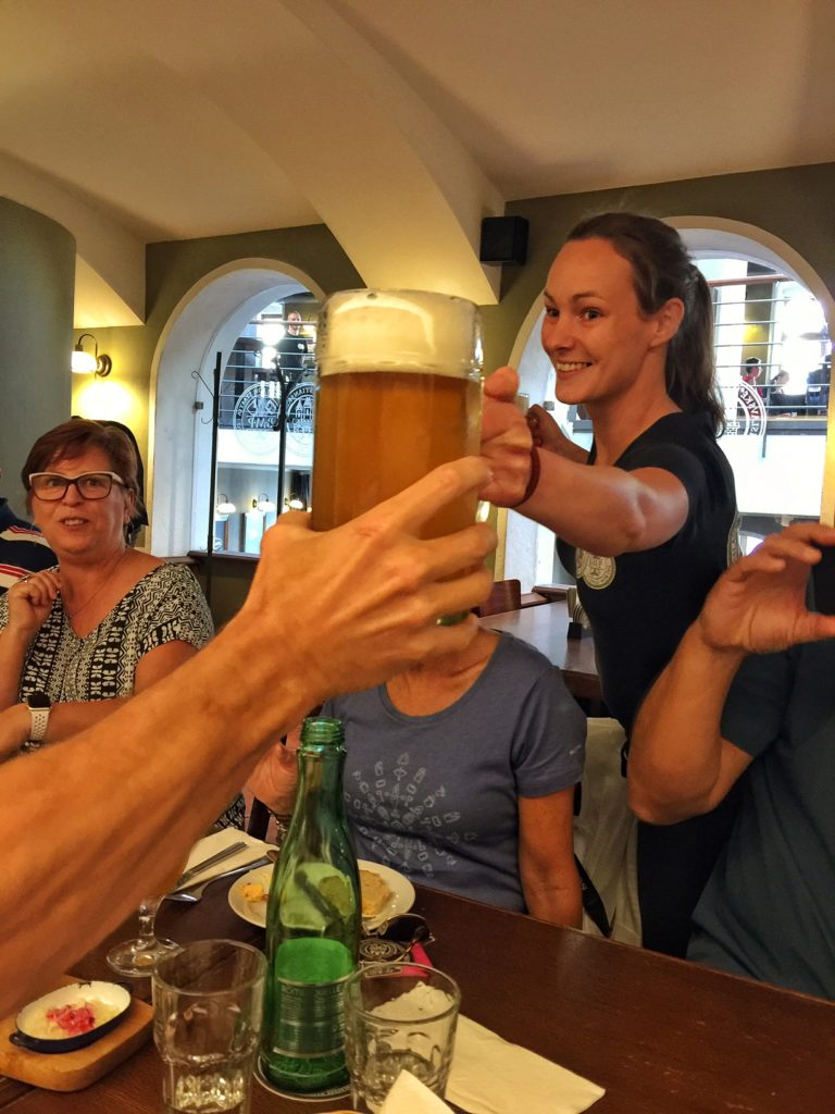 After hiking in Europe, one deserves a beer!