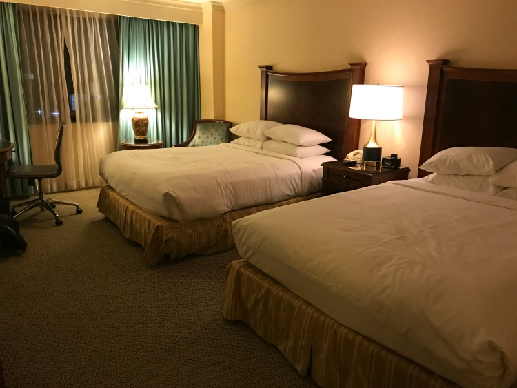 My Hilton Short Hills New Jersey guest room included 2 queen beds.