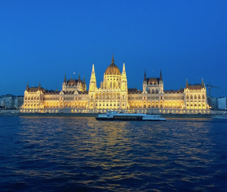 CroisiEurope timed our arrival in Budapest to see the city lit up