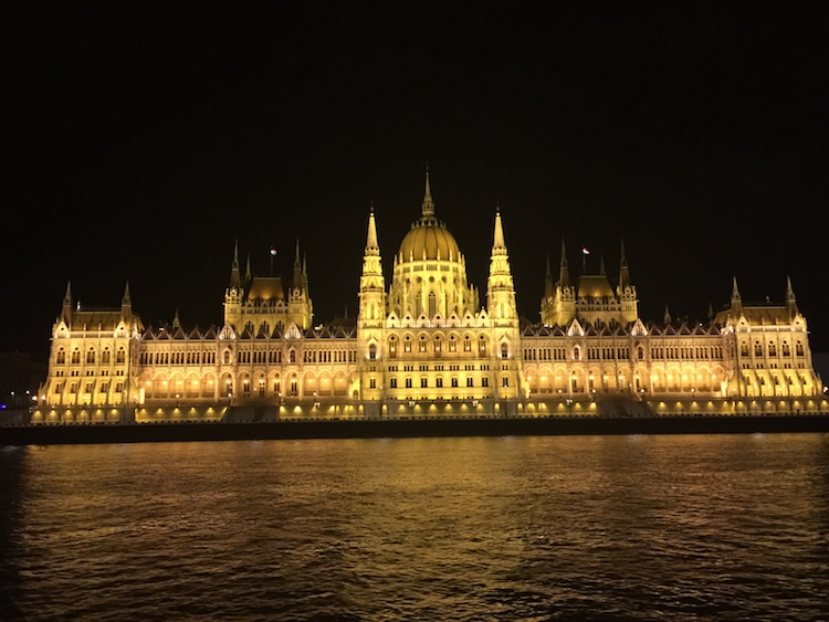 Best things to do in Budapest, Hungary include viewing the Hungarian Parliament at night.