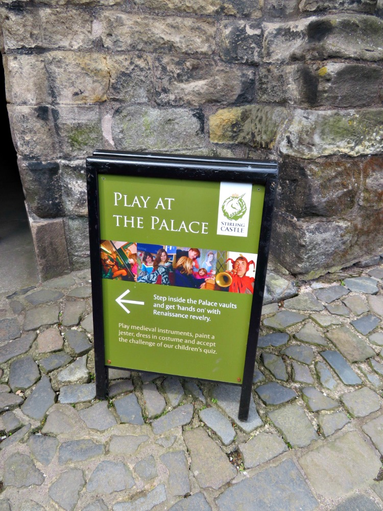 Stirling Castle offers a fun program called Play at the Palace for visiting castles with kids.