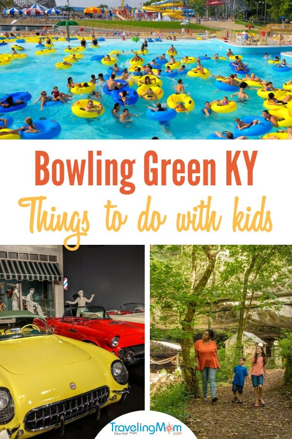 Heading to Bowling Green KY with kids? From caves to coasters to Corvettes, plus some great food, these are some of the best things to do in Bowling Green KY.