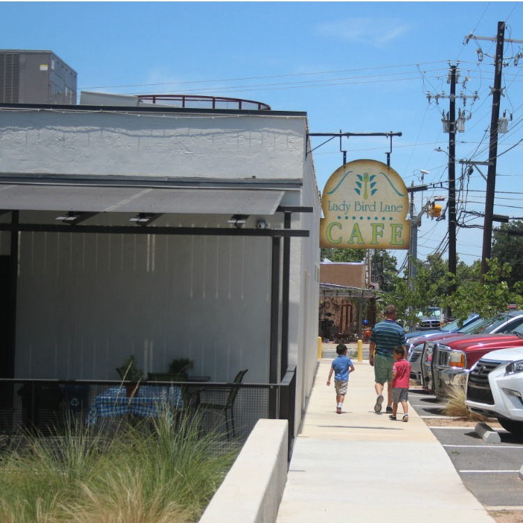 Exterior of the Lady Bird Jane Cafe