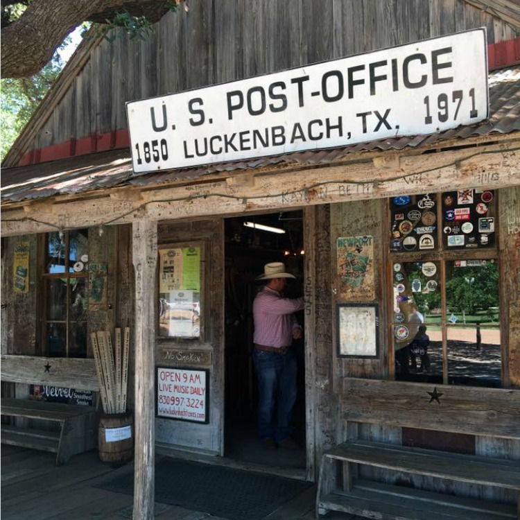 No longer a post office in Luckenbach, Texas, it certainly is a good spot for souvenirs!