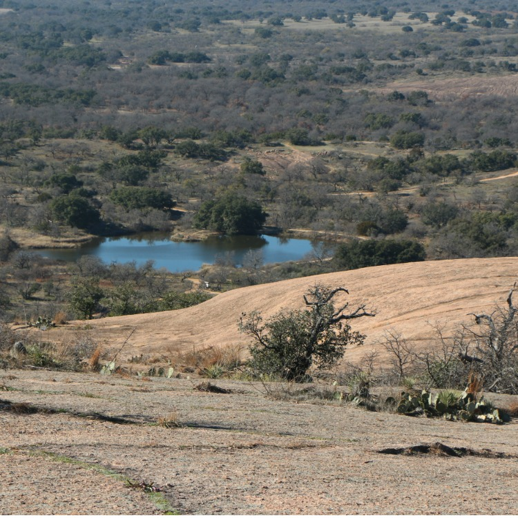Fredericksburg, Texas with kids - views from the top of the Enchanted Rock