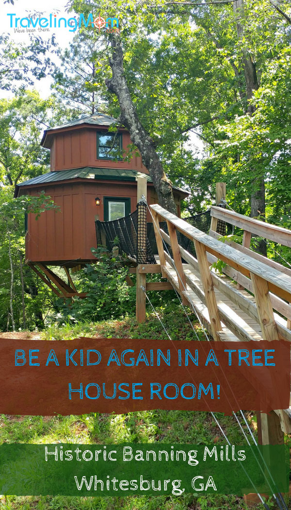 Need a break from adulting? Check into a treehouse room at Historic Banning Mills. This Georgia treehouse hotel has plenty of fun to make you feel like a kid again.