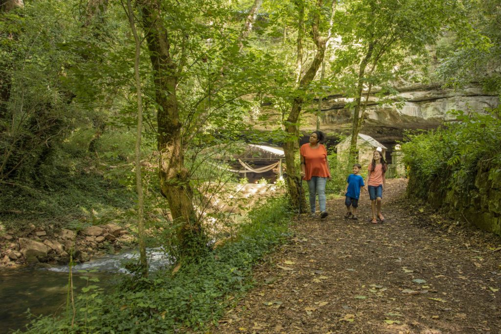 Lost River Cave trails, a free attraction in Bowling Green KY