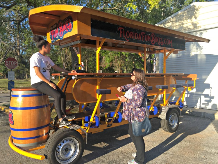 The Florida Fun Bikes in Gainesville is great fun for friends, relatives, or coworkers.