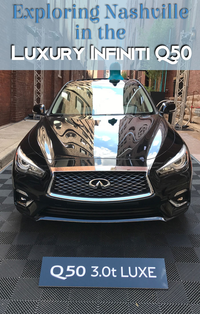 Music City travel is more fun in a luxury Infiniti Q50.