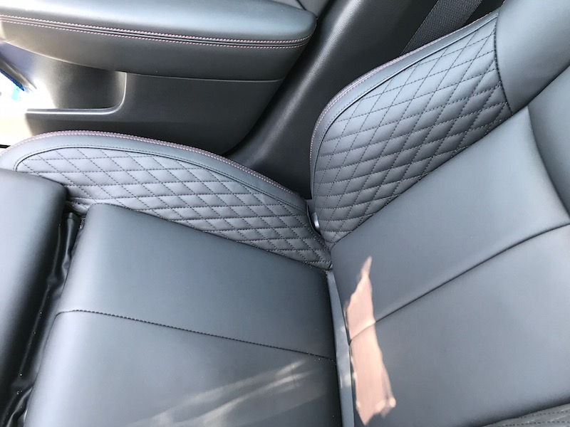 Do you eat in the car? Check out these easier-to-clean leather seats on the Infiniti Q50.