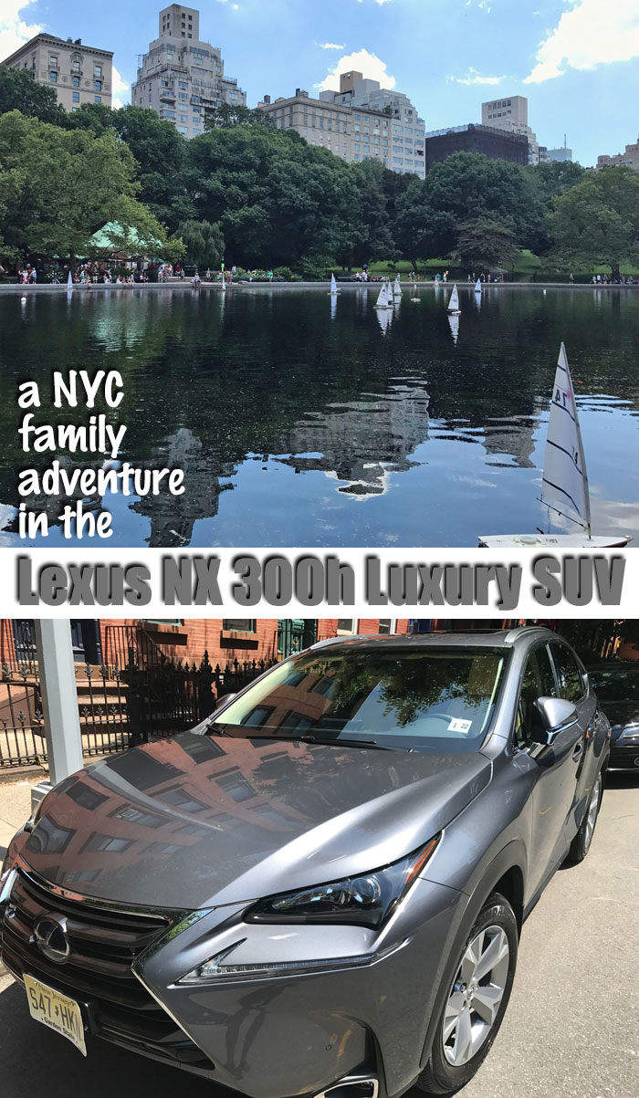 Driving in NYC? The Lexus 300h is perfect for your family adventure