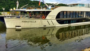 The AmaStella, one of AmaWaterways luxury European river cruise ships.