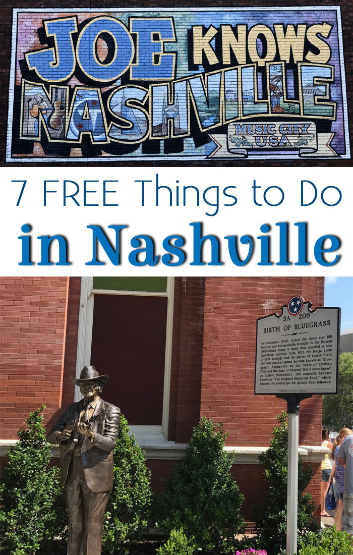 Heading to Nashville? Check out what is free in Tennessee.