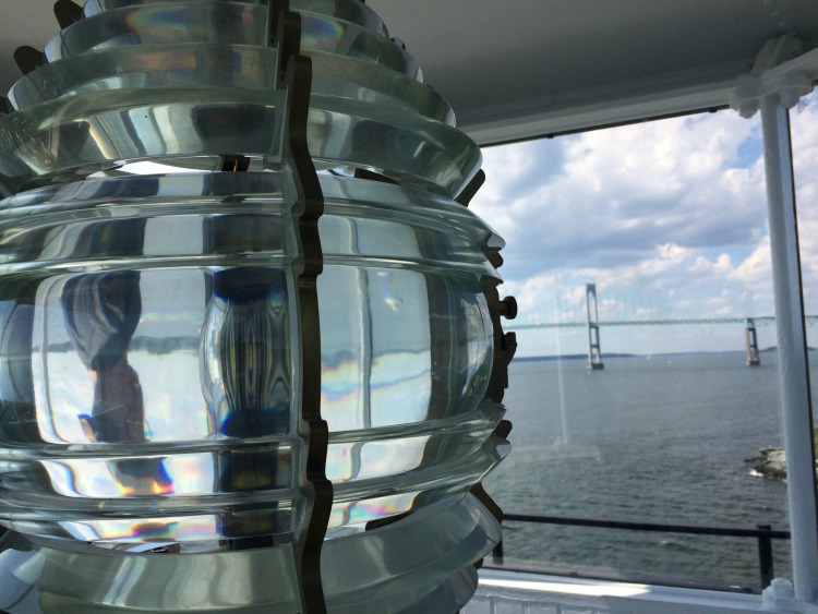 Climb to the lantern room during a family adventure to the Rose Island Lighthouse in Newport, Rhode Island.