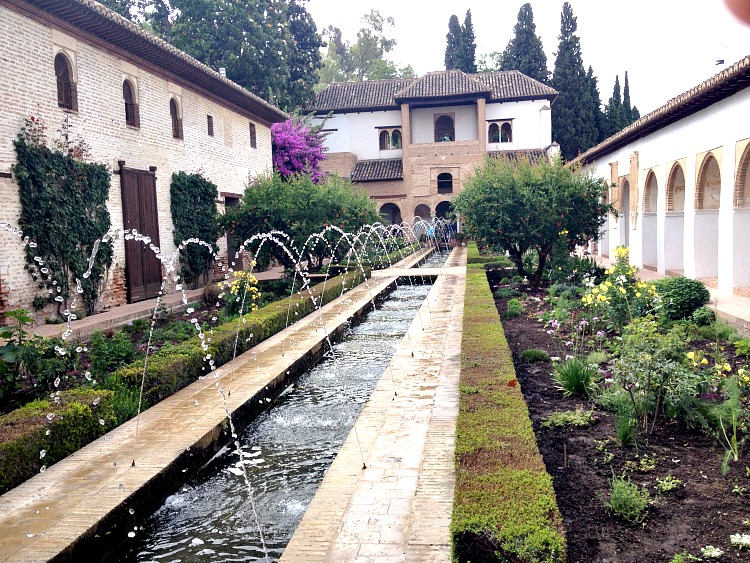 The fountains in the courtyard of The Alhambra are beautiful to see.