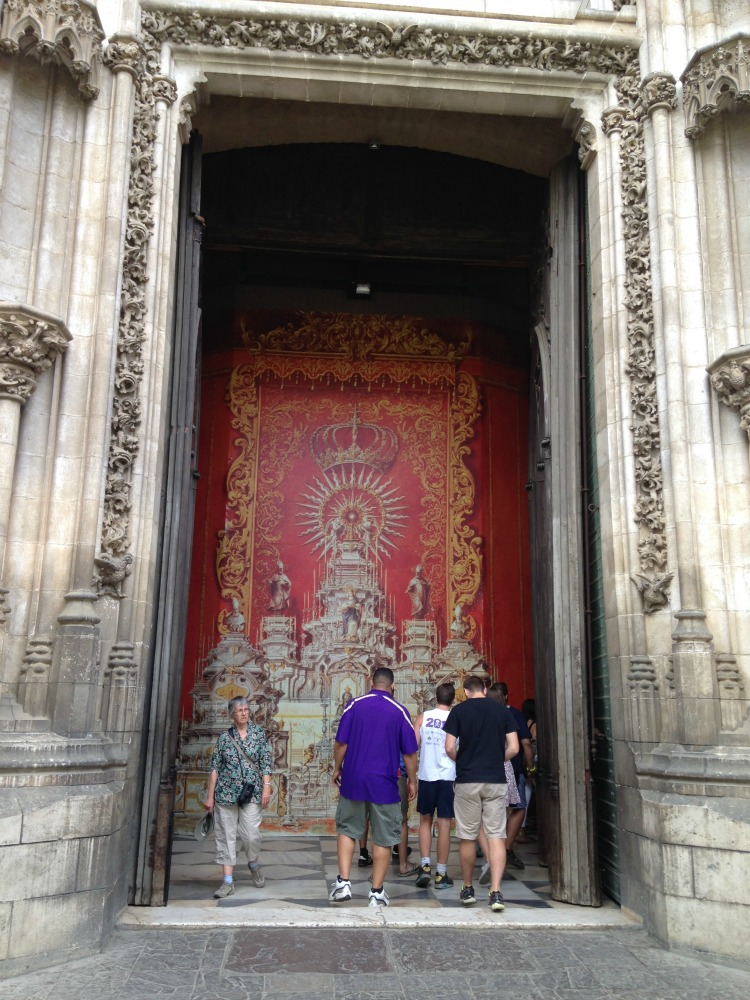 This is a mighty big doorway to this Cathedral in Sevilla! What a cool place to visit in Andalusia