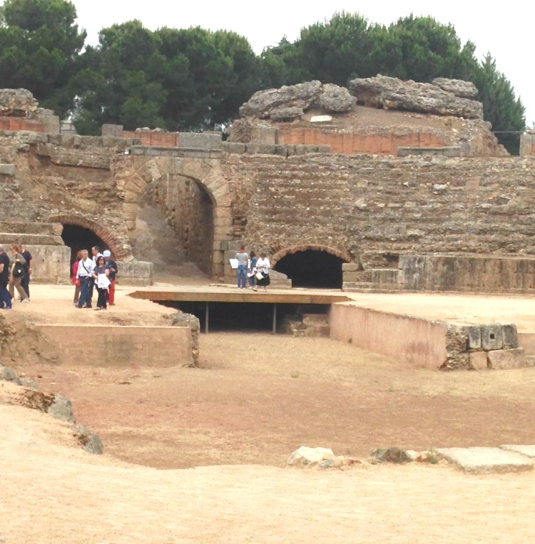This roman theater is a couple of millennia in age. The ability to touch antiquity is what makes Merida one of my top 8 places to see in Andalusia Spain.