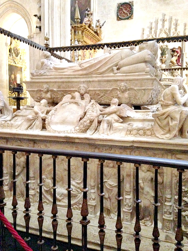 The tomb of Queen Isabella I of Castille, in Andalusia Spain.
