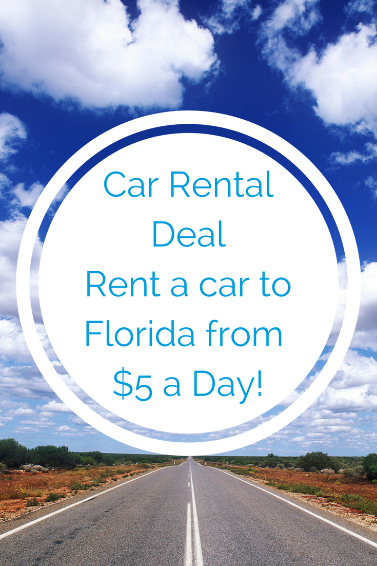 One Way Car Rental Deal: Rent a car to Florida from just $5/day!