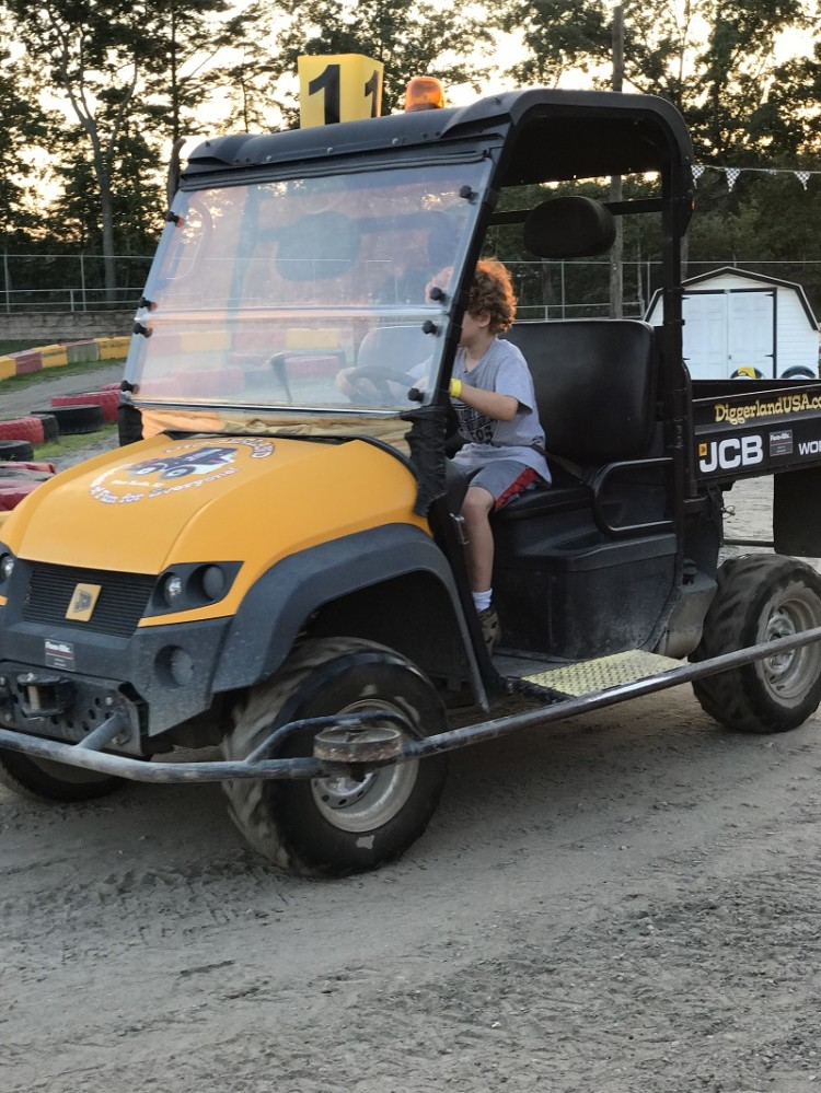 My son drove the Diggerland USA Workmax truck during the Diggerland USA camp out.