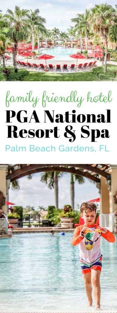 Family friendly hotel PGA National Resort and Spa in Palm Beach Gardens, FL