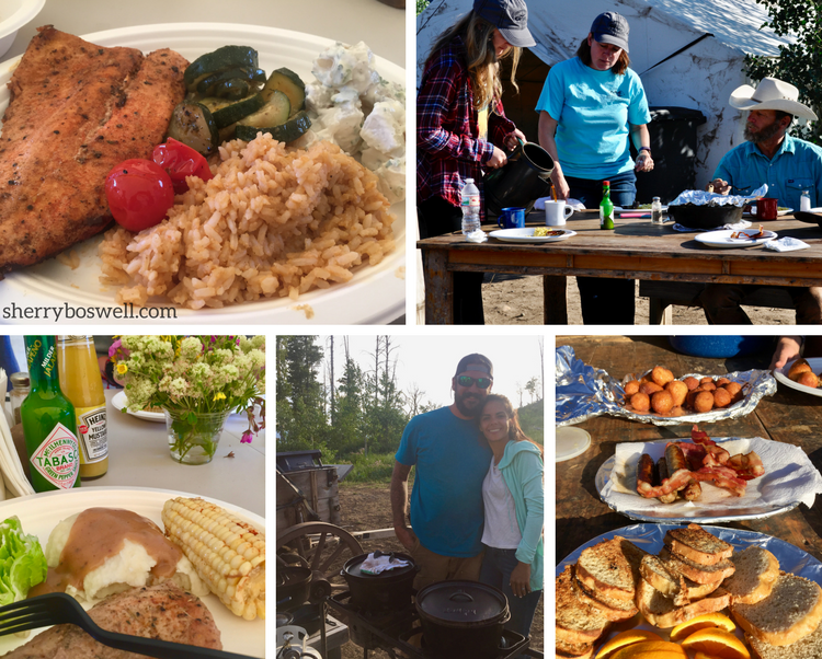 Glamping at Goosewing Ranch, Jackson Hole, WY, includes fabulous food.