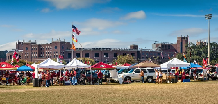 Make sure to plan time for tailgating on your college football weekends!