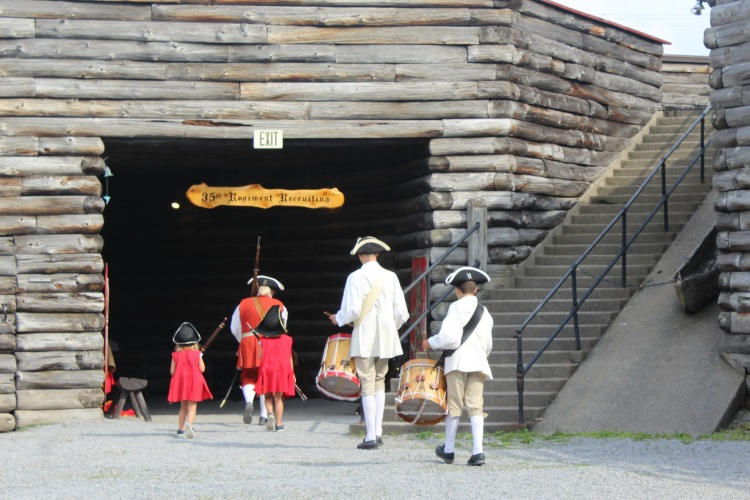 Touring Fort William Henry another of the things to do when you visit Lake George, NY.