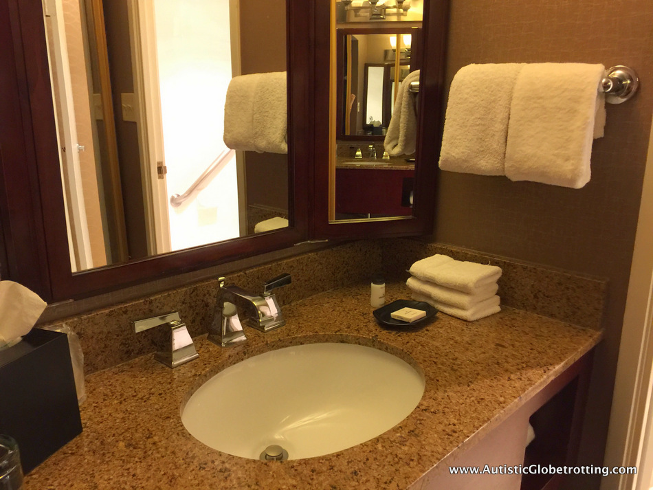 he Sheraton Park Hotel at the Anaheim Resort. sink