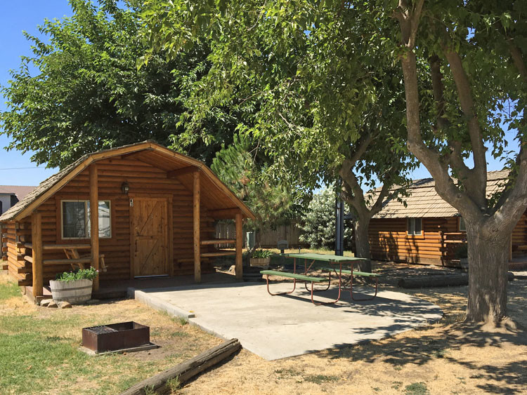 Cabins are available at most KOAs if you aren't RV or tent camping.