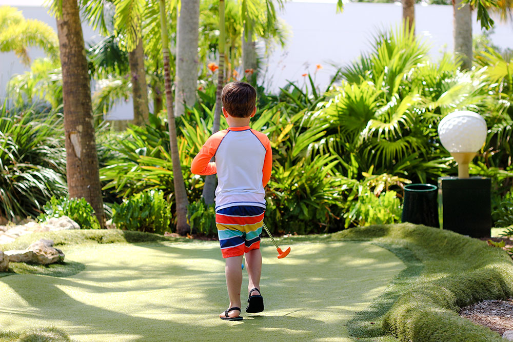 The Conservation Course mini golf at South Florida Science Center is a mini PGA course!