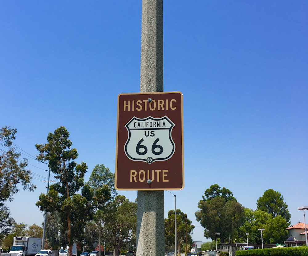Drive down Route 66 while touring colleges in California with kids.