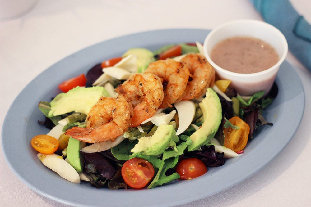 Shrimp salad from spa at PGA national resort and spa