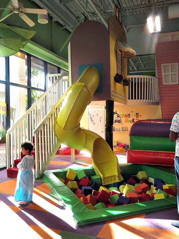 The indoor playground at Cool Beans is perfect for rainy day fun in The Palm Beaches.
