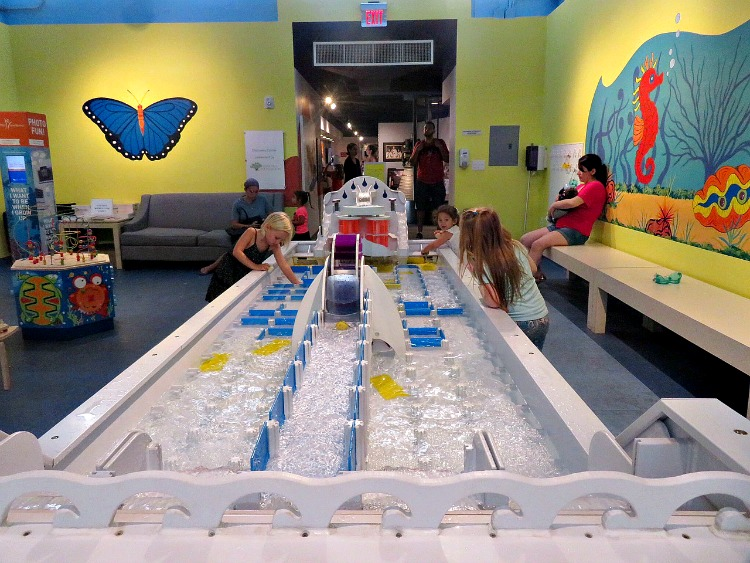 The water table at the South Florida Science Center offers rainy day fun in The Palm Beaches.