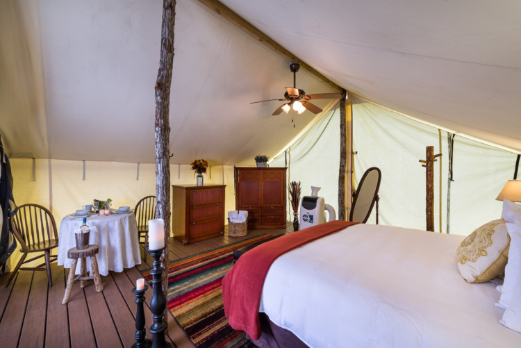 Glamping at Westgate River Ranch, a luxury campsite in Florida.