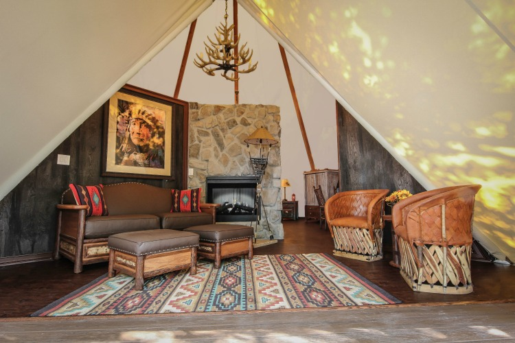 Luxe Teepee at Westgate River Ranch, a luxury camping destination in Florida.