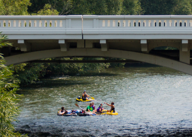 One of my favorite things to do in Boise with kids - float down the middle of Boise, Idaho on a raft!