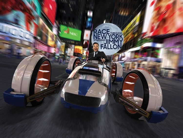 Race Through New York Starring Jimmy Fallon Ride, one of the Universal Studios Florida experiences in Orlando.