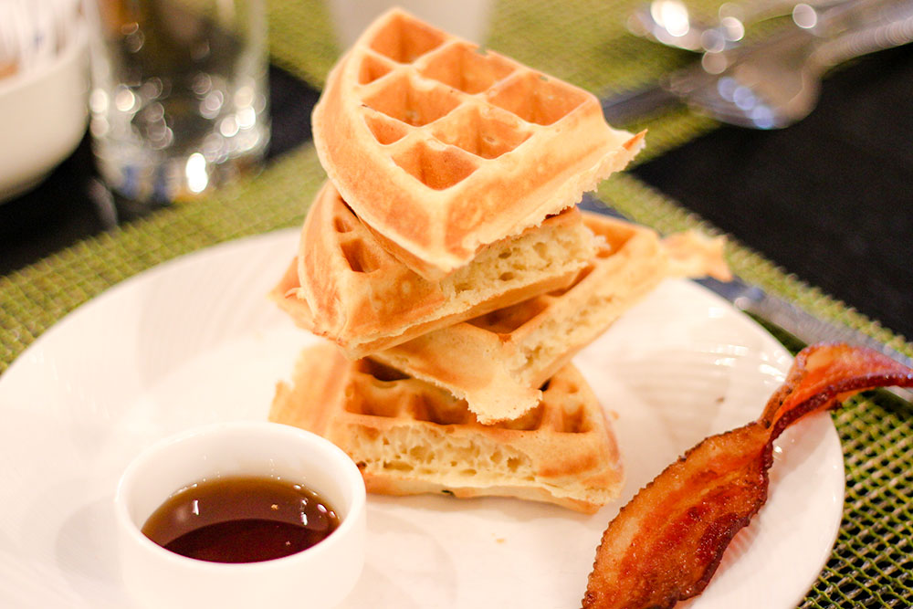 The waffles from Palm Terrace at PGA National Resort and Spa.