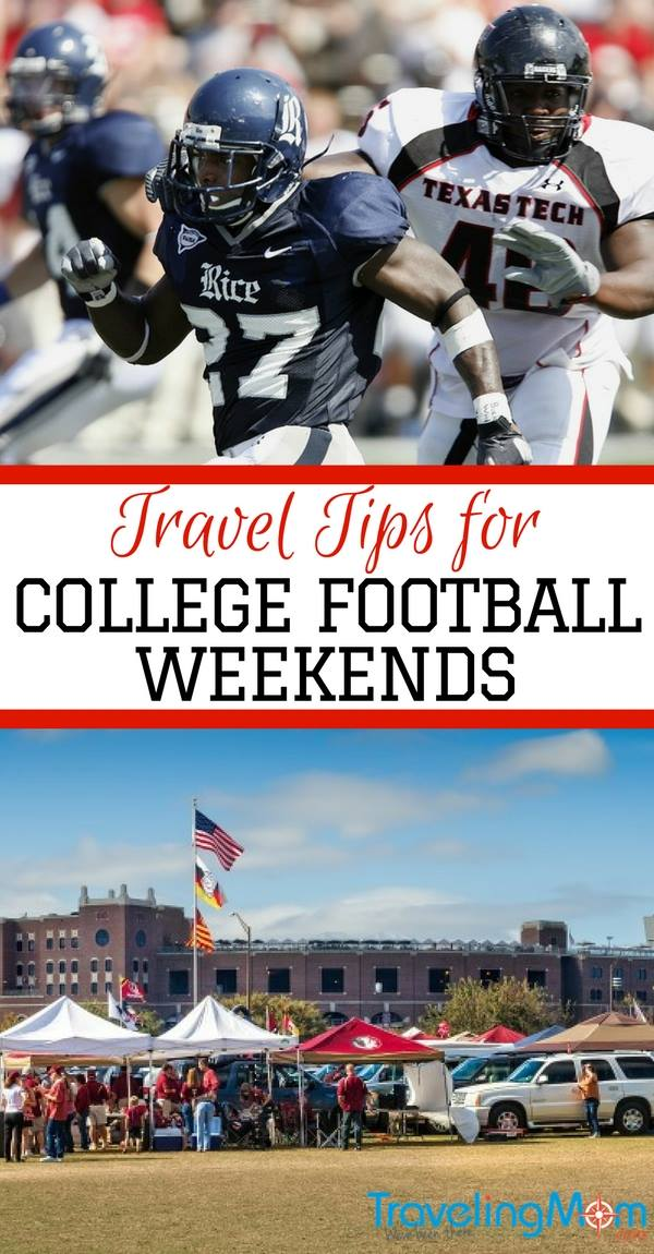 Score with Game Winning Travel Tips for College Football Weekends! Road trips, tailgating, band practice, it's all part of a great football game!