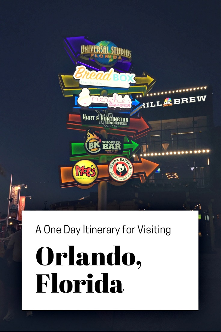 The Universal CityWalk is great for exploring on your one-day itinerary to visiting Orlando, Florida.