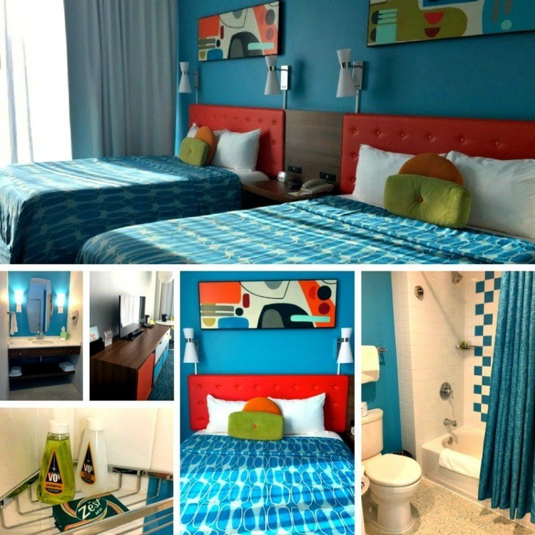 The colors and retro theme at Universal's Cabana Bay will surely delight the entire family.