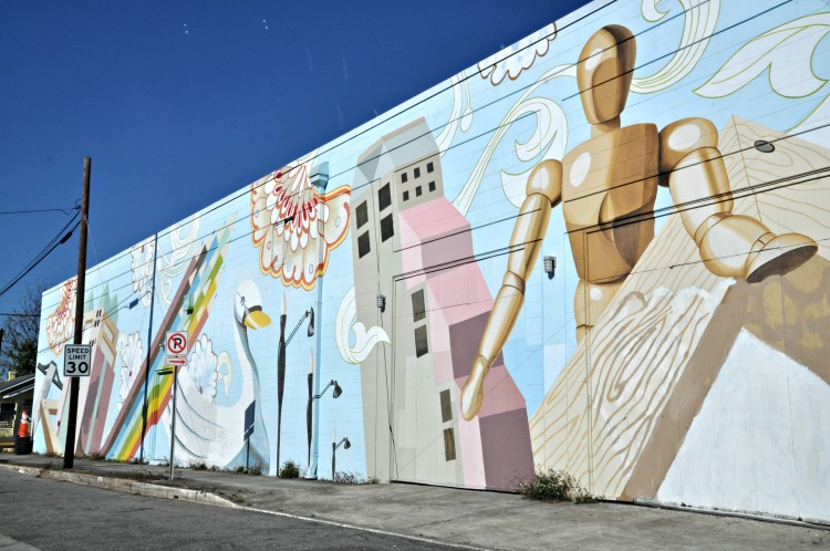 Orlando's Mills 50 District has awesome art installations like this mural.