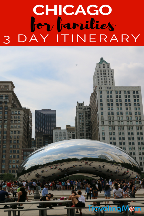 Millennium Park's Bean statue is a must-see during a 3 day family vacation in Chicago, along with a charmig and free zoo, the original deep dish pizza, Cubs baseball and world class art and theater.