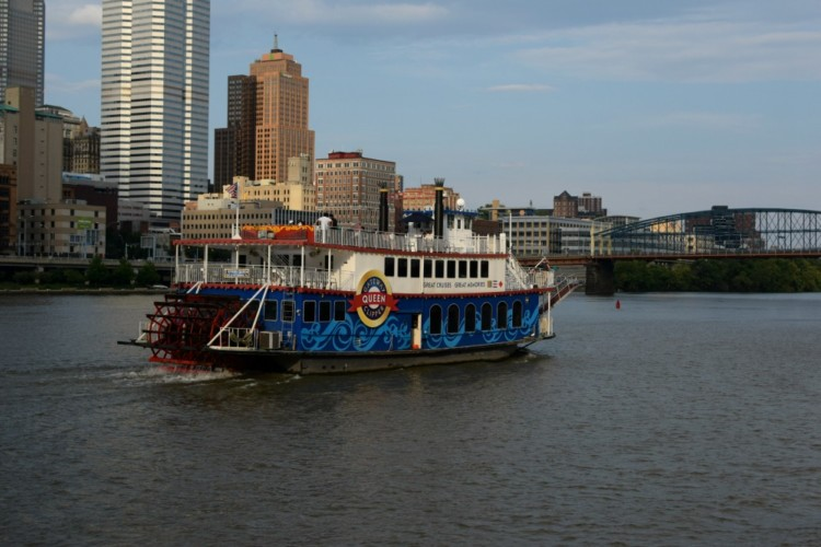 One of many boats in the Gateway Clipper Fleet